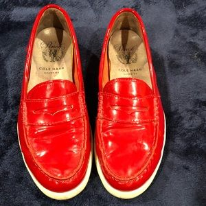 Cole Haan Pinch Weekender Red Patent Leather Shoes